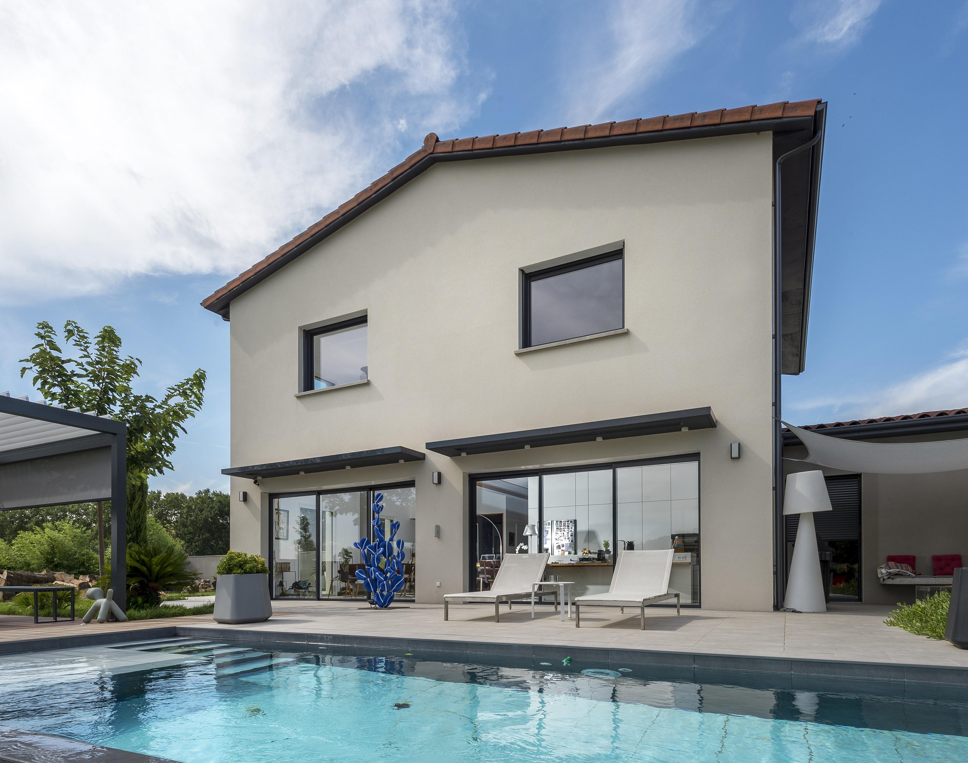 Villa contemporaine à la campagne