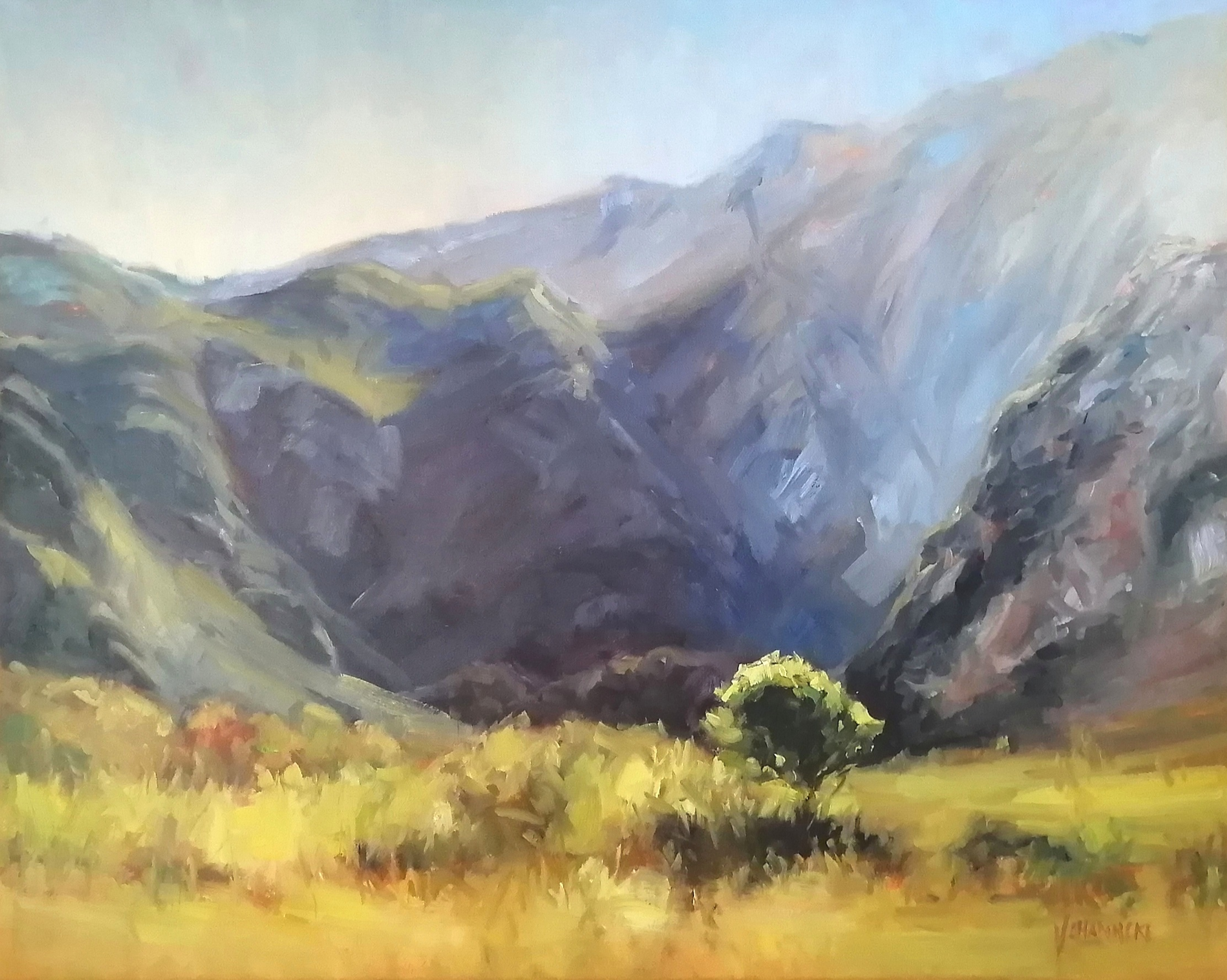 Landscape oil painter from South Africa.