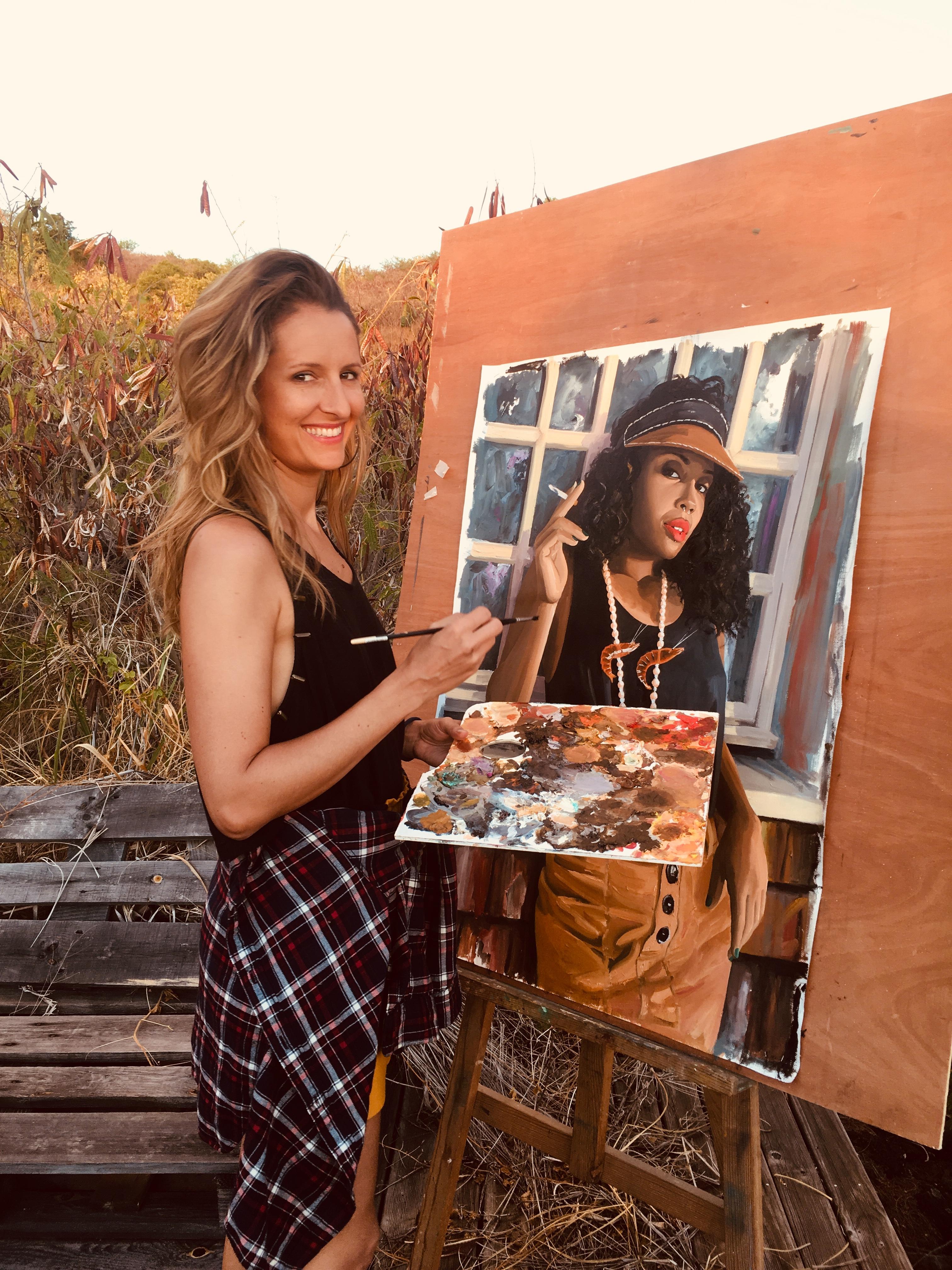 Artiste peintre réunionnaise