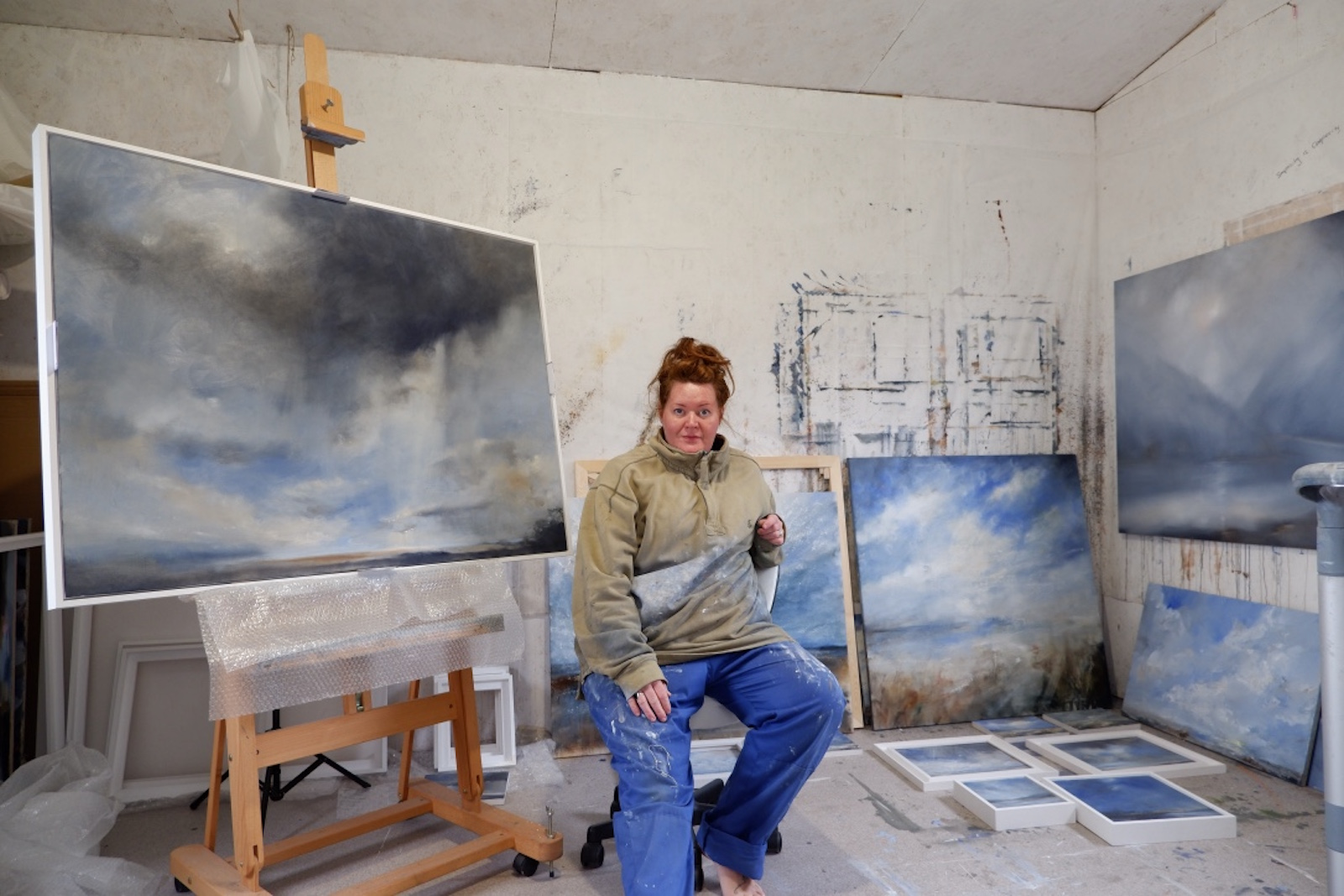 landscape painter hoping to find new colours for paint making